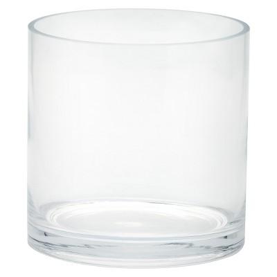 Glass Cylinder Vase (6 x6 )- Diamond Star