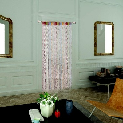 1 Pc Dew Drop Glitter String Door Window Curtain Panels - PiccoCasa