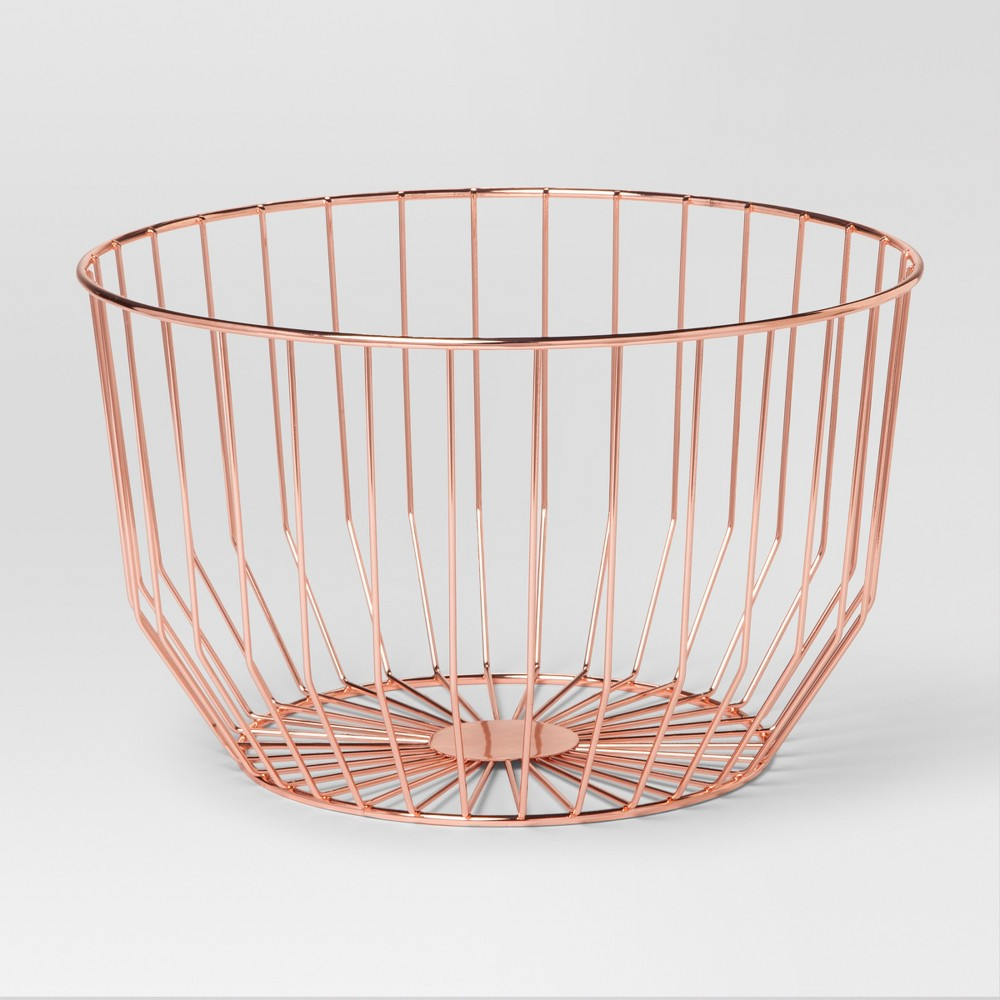 Round Wire Basket Medium - Copper (Brown) - Project 62