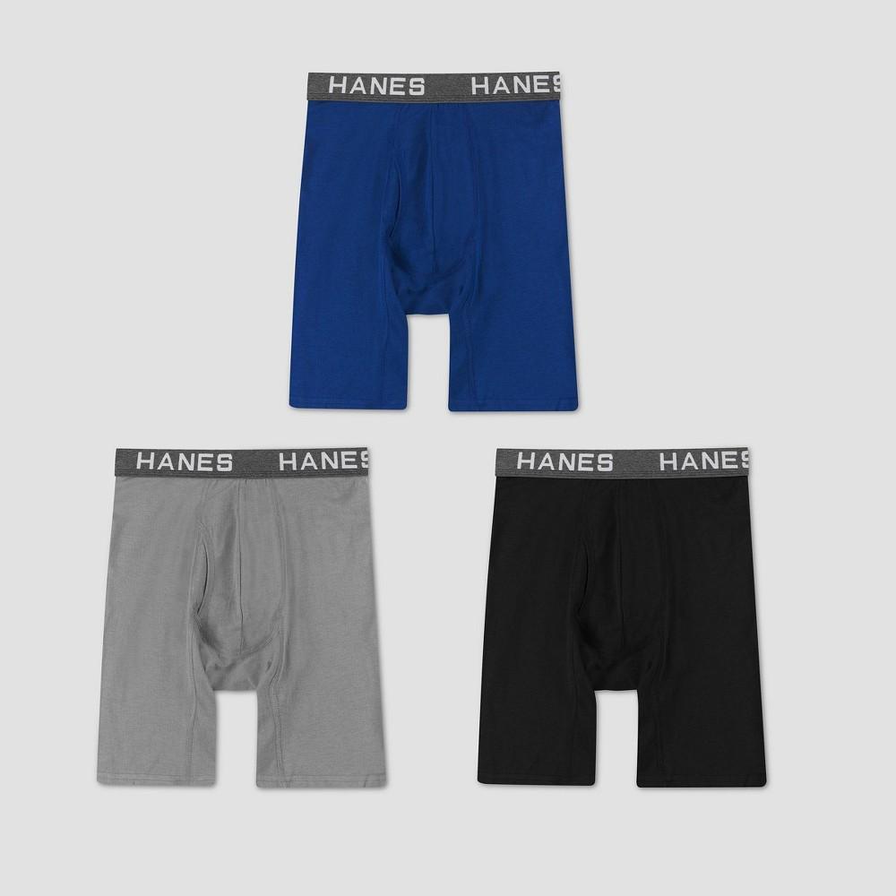 Hanes Men S Comfort Flex Fit Long Leg Boxer Briefs 3pk L