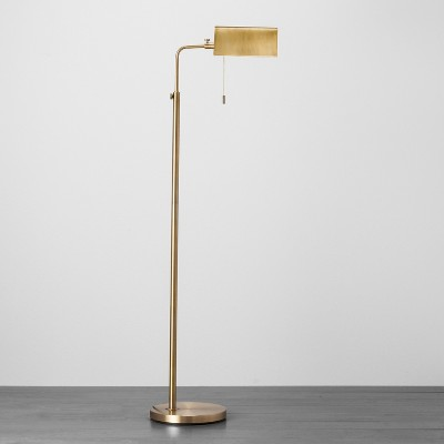 Brass Library Floor Lamp - Hearth & Hand™ with Magnolia