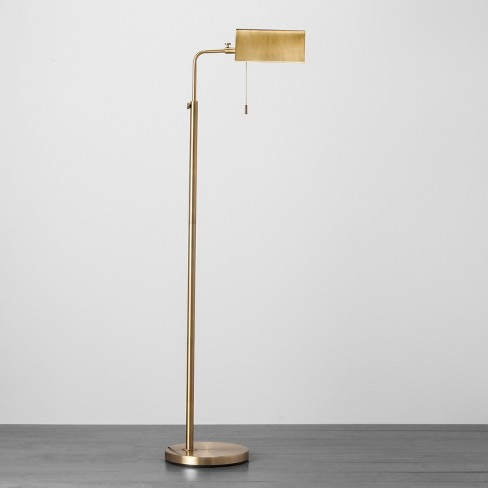 Brass Library Floor Lamp - Hearth & Hand™ with Magnolia - image 1 of 3
