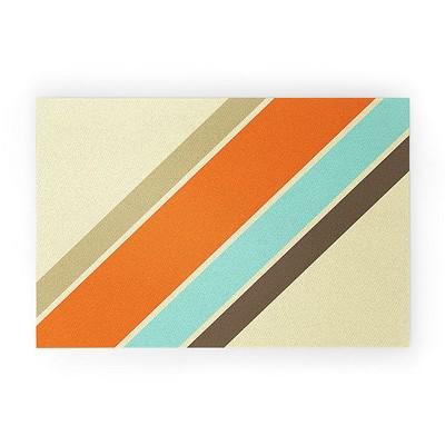 Alisa Galitsyna Retro Stripes Looped Vinyl Welcome Mat - Society6