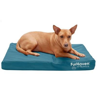 FurHaven Logo Indoor/Outdoor Deluxe Oxford Orthopedic Mattress Dog Bed