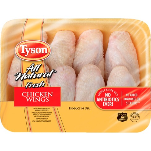 Tyson All Natural Antibiotic Free Chicken Wings - 1.48-2.2 lbs - price per lb - image 1 of 3