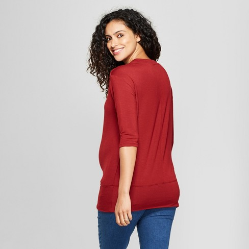 17f2aa9fd054d Maternity 3/4 Sleeve Snap Shoulder Sweatshirt - Isabel Maternity By Ingrid  & Isabel™ : Target