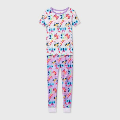 Kids' 2pc Butterflies Pajama Set - Cat & Jack™ Purple