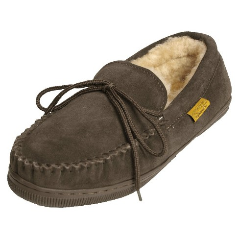 9d0c0e337c4 Men s Brumby® Suede Moccasin Slippers - Brown 10   Target