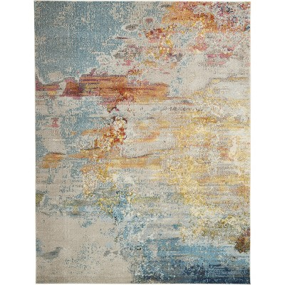 Celestial CES02 Area Rug Colorful Contemporary Abstract By Nourison