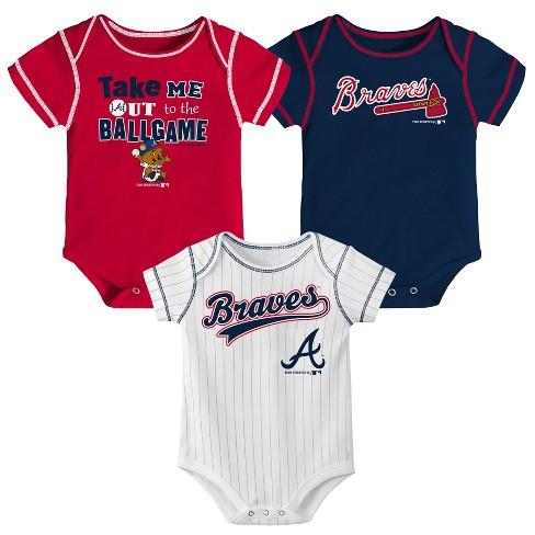 MLB Atlanta Braves Boys' 3pk Bodysuit Set - image 1 of 4