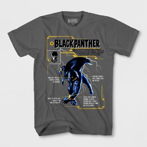 Boys  Black Panther Short Sleeve T-Shirt - Charcoal   Target bc0695a74