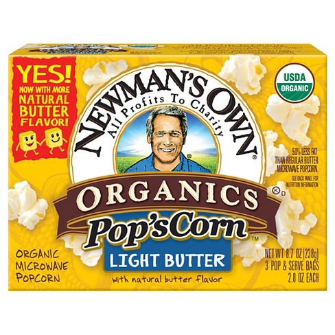 Newman's Own Organics Light Butter Pop's Corn - 3ct - image 1 of 1