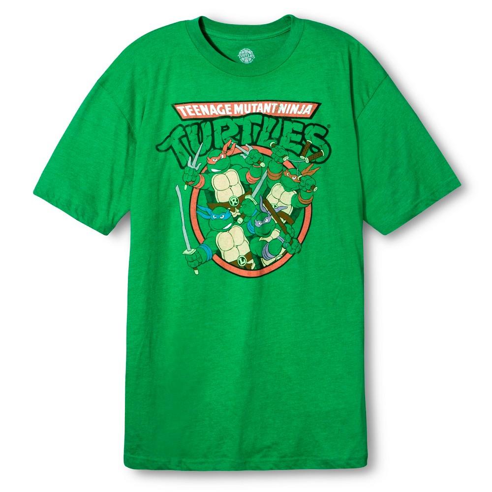 Men's Big & Tall Teenage Mutant Ninja Turtles T-Shirt - Green Xxxl, Size: Xxxl Tall, Green Heather