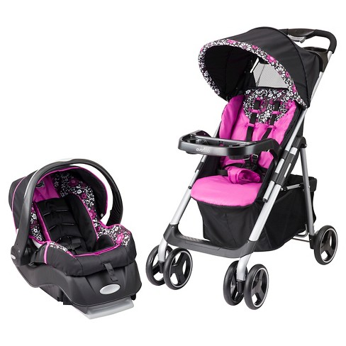 Evenflo Vive Travel System with Embrace Infant Car Seat - Daphne - image 1 of 4