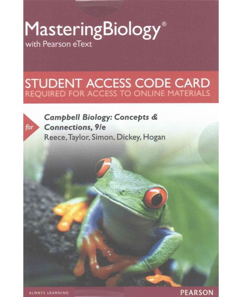 Campbell Biology MasteringBiology With Pearson Etext Access Code : Concepts & Connections (Hardcover) - image 1 of 1