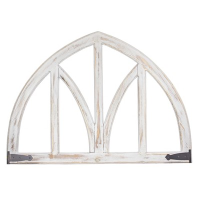 Arched Metal And Wood Wall Decor White - E2 Concepts