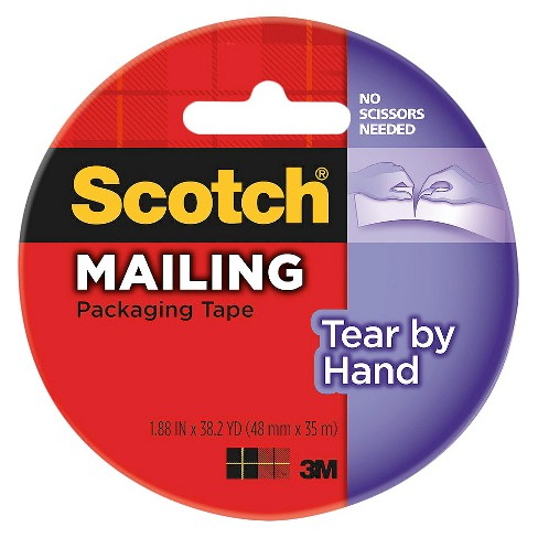 Scotch™ Tear By Hand Mailing Packaging Tape, Clear, 1.88 in x 38.2 yd - image 1 of 1