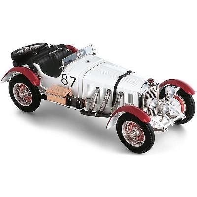 "Mercedes Benz SSKL #87 Rudolf Caracciola ""White Elephant"" Mille Miglia (1931) 1/18 Diecast Model Car by CMC"
