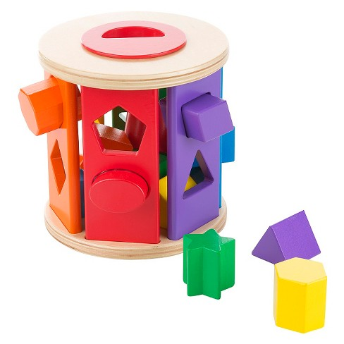 Melissa & Doug Match and Roll Shape Sorter - Classic Wooden Toy - image 1 of 4