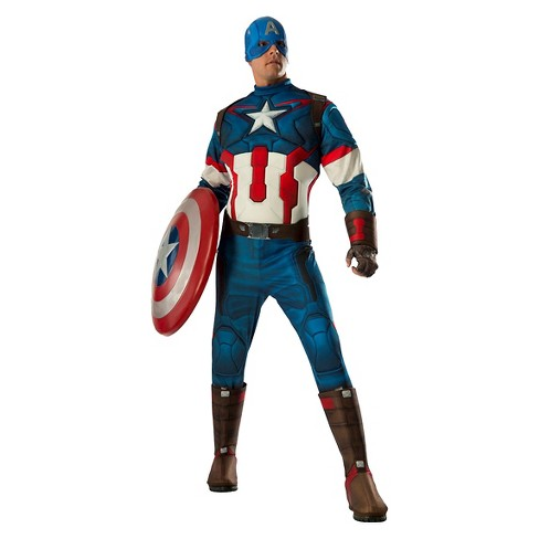 Adult The Avengers Age Of Ultron Captain America Halloween Costume Xl Target A wide variety of captain marvel costume options are available to you, such as supply type, costumes type, and holiday. adult the avengers age of ultron captain america halloween costume xl