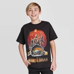 Boys' Star Wars Mandalorian Short Sleeve T-Shirt - Black