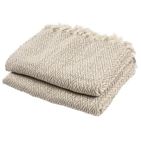 Danita Throw Blanket Beige - Safavieh - image 1 of 2