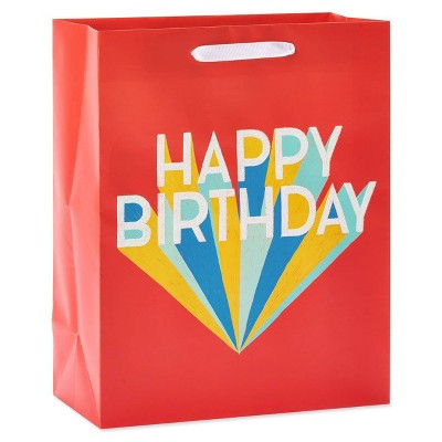 """Small """"Happy Birthday"""" on Red Gift Bag - Spritz™"""