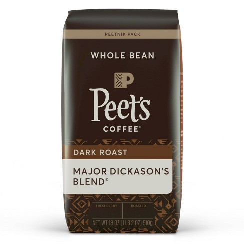 Peet's Major Dickason Dark Roast Whole Bean Coffee - 18oz - image 1 of 4