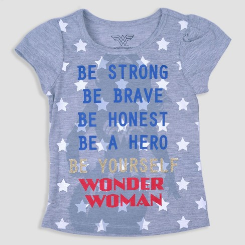 469c6308 Toddler Girls' 3pk DC Comics Wonder Woman Short Sleeve T-Shirt - Blue/Red.  Shop all DC Comics