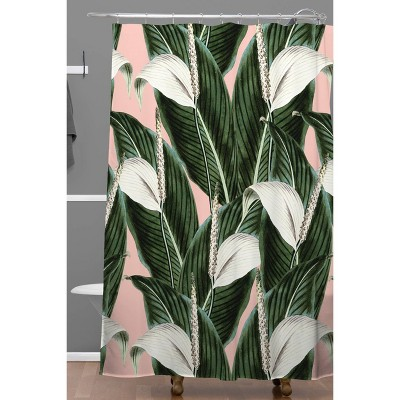 Marta Barragan Camarasa Sweet Floral Desert Shower Curtain Green/Leaf    Deny Designs