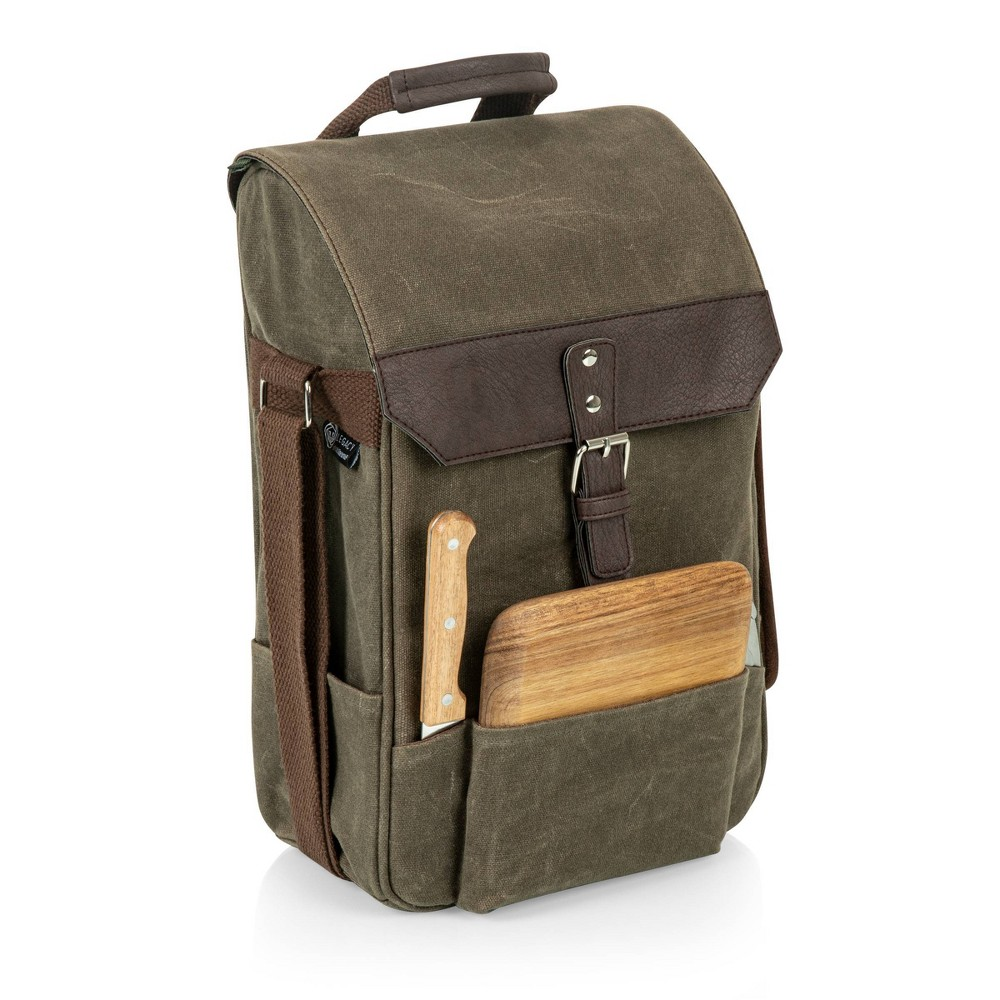 Image of Picnic Time 2 Bottle Insulated Wine & Cheese Cooler Bag