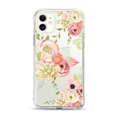 OTM Essentials Apple iPhone 11 Clear Case - Flower Garden Pink