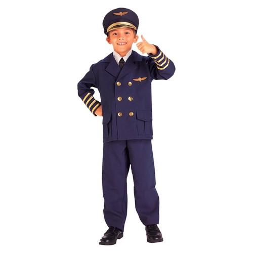 Halloween Boys Airline Pilot Costume - 2T-4T, Boy's, Blue
