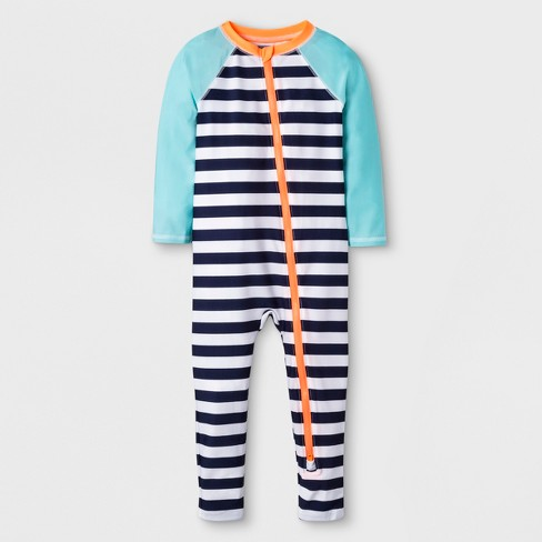 4bf6fc60f3 Toddler Boys' Long Sleeve One Piece Swimsuit - Cat & Jack™ Navy : Target