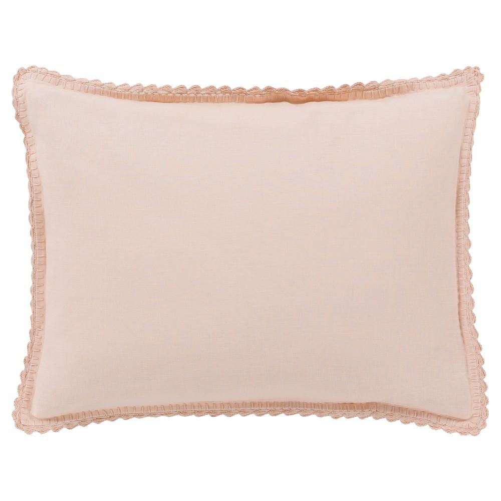 Blush Bilzen Luxury Bedding Sham (Standard) - Surya, Blush Peach