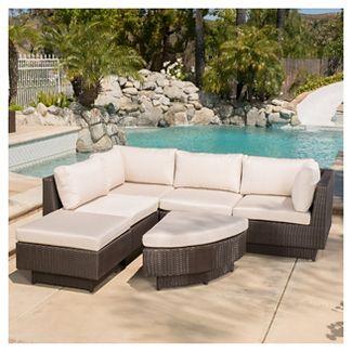 Branson 4pc Wicker Sofa Set - Multi brown - Christopher Knight Home
