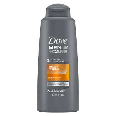 Dove Men+Care Fortifying 2-in-1 Shampoo and Conditioner for Deep Clean and Fortified Hair Thick and Strong with Caffeine - 20.4 fl oz