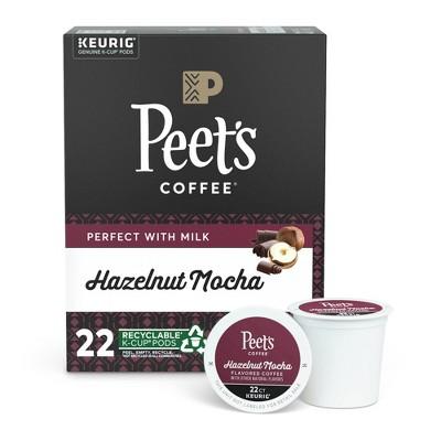 Peet's Coffee Hazelnut Mocha Flavored Light Roast Coffee - Keurig K-Cup - 22ct
