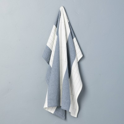 Bold & Thin Stripe Flour Sack Kitchen Towel Sour Cream/Faded Blue - Hearth & Hand™ with Magnolia