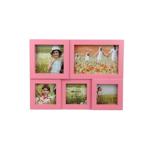 "Northlight 11.5"" Pink Multi-Sized Puzzled Collage Photo Picture Frame Wall Decoration - image 1 of 3"