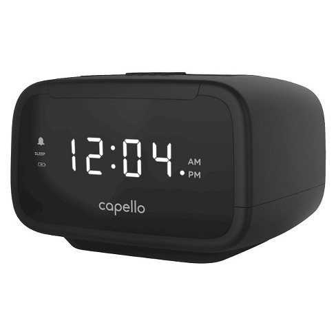 Capello® CR15 Digital AM & FM Alarm Clock Radio - Black - image 1 of 2