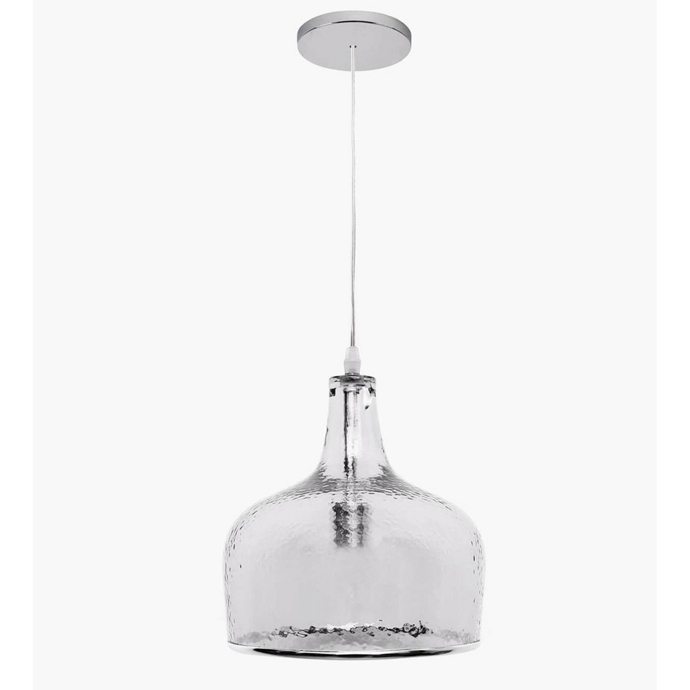 Catalina Glass Single Light Pendant Clear - Abbyson Living