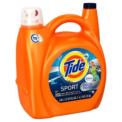 Tide Plus Febreze Sport Active Fresh High Efficiency Liquid Laundry Detergent - 138 oz