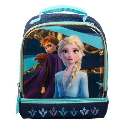 Disney Frozen 2 Dual Compartment Lunch Bag - Blue