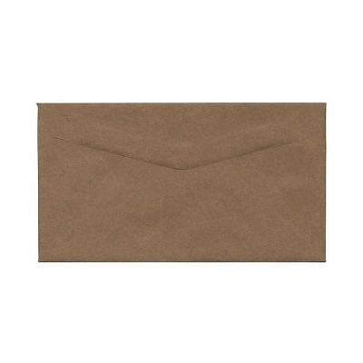 JAM Paper 4.25 x 7.75 Booklet Recycled Envelopes Brown Kraft Paper Bag 563112538