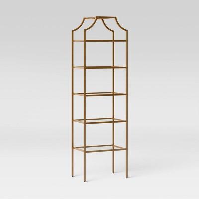 Metal/Glass Linen Tower Brass - Opalhouse™