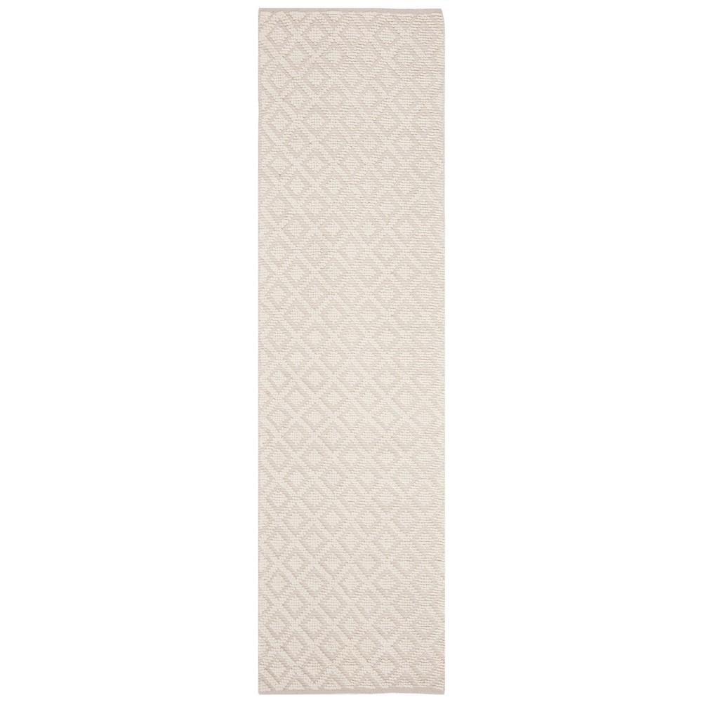2'2X8' Woven Geometric Runner Rug Ivory - Safavieh, White