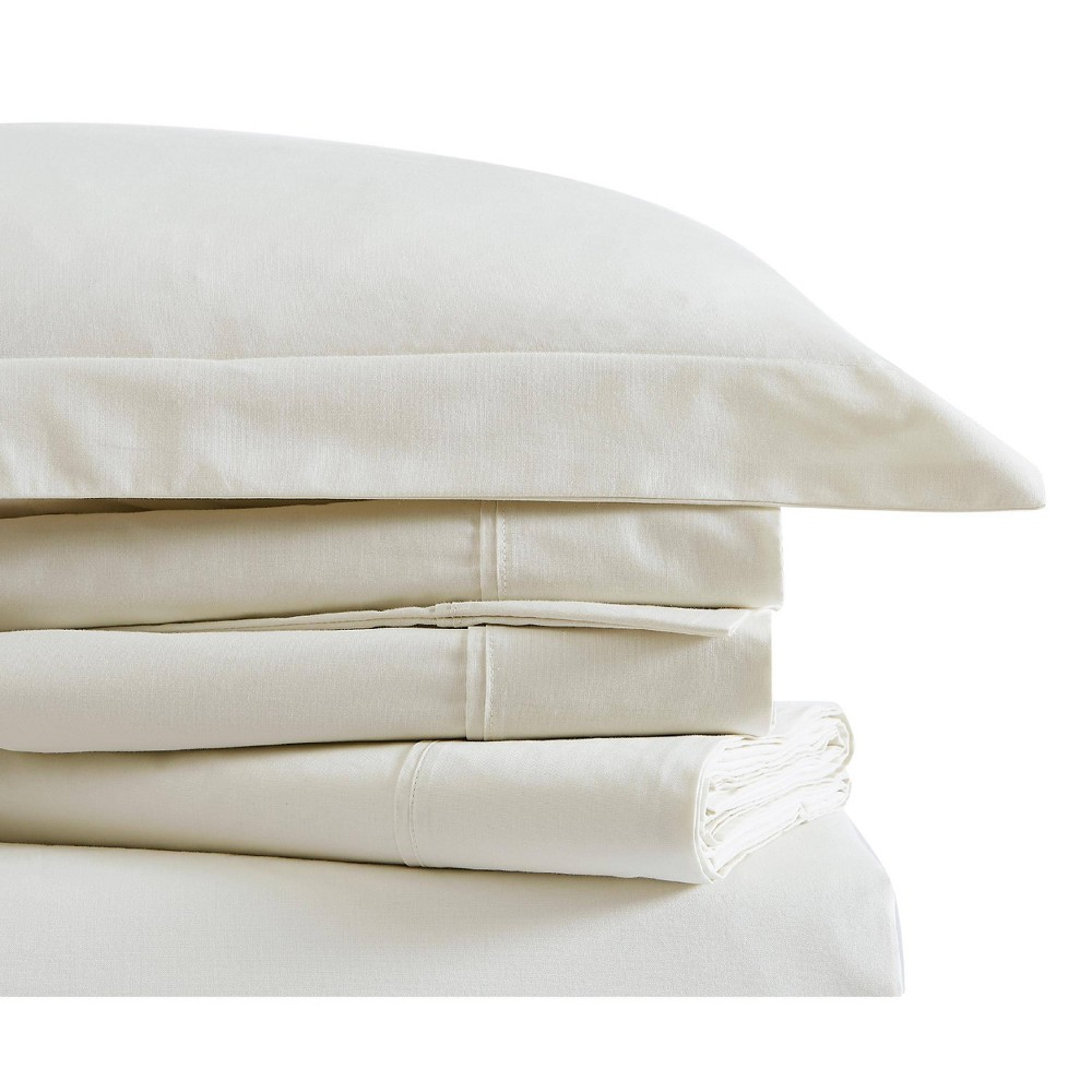 Image of Queen Classic Cotton Solid Sheet Set Ivory - Brooklyn Loom