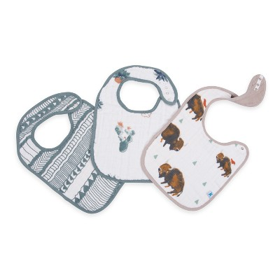 Little Unicorn Bib Set Bison in Classic - 3pc