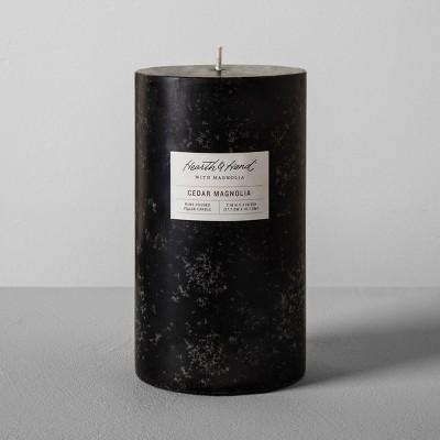 Pillar Candle (4 x7 )- Cedar Magnolia - Hearth & Hand™ with Magnolia
